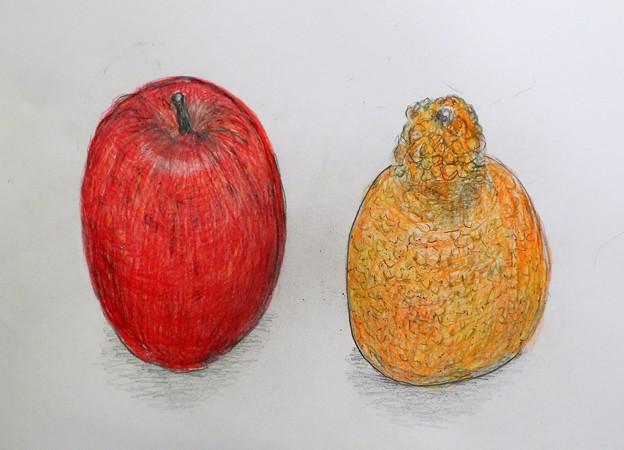 リンゴとデコポン