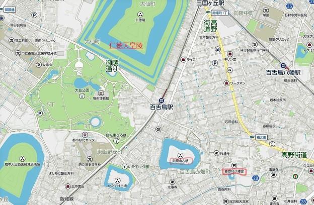 百舌鳥八幡宮位置図