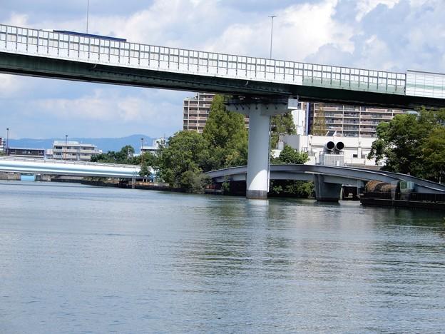春風橋と毛馬橋と大川 (1)