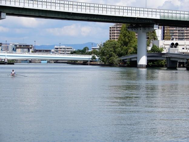 春風橋と毛馬橋と大川 (2)