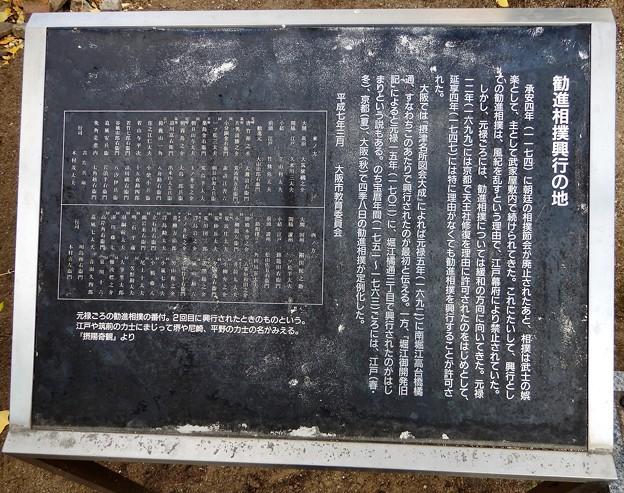 勧進相撲興行の地碑(南堀江公園) (2)