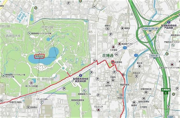 鶴見緑地&古宮神社位置図