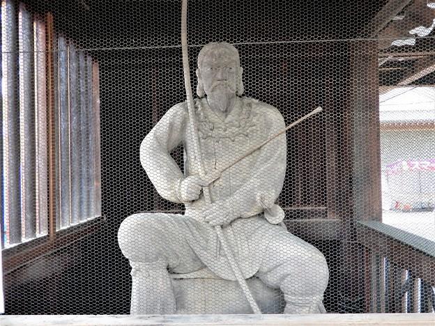 石切神社絵馬殿の神像(多分、ニギハヤヒ)