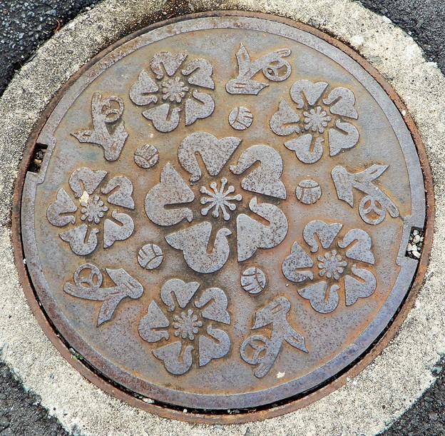 579-0004東大阪市のマンホール (市名のないタイプ)