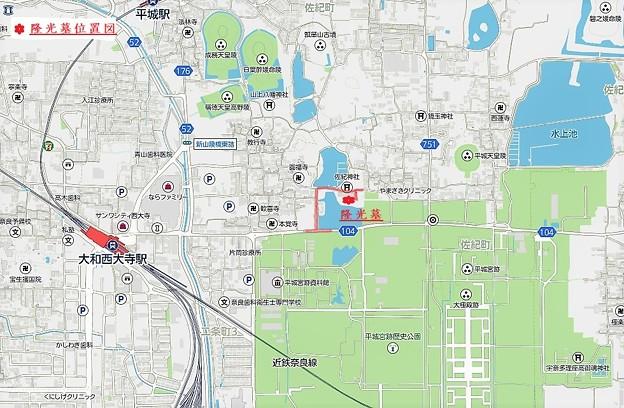 隆光墓地図 (2)