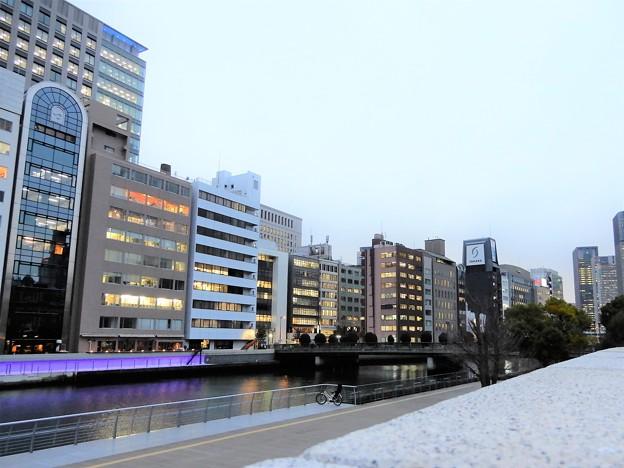 土佐堀川と栴檀木橋
