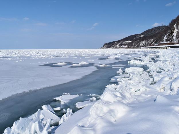 知床半島・宇登呂の流氷