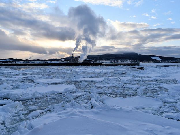 紋別のサンセットクルーズの流氷