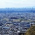 枚岡展望台下から花園中央公園を望む (2)