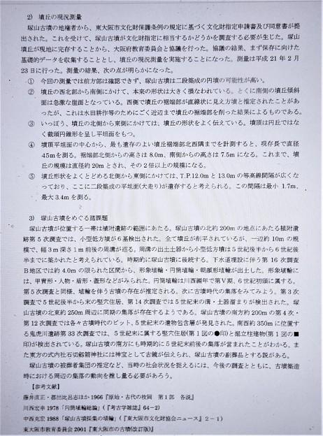 塚山古墳関係 (5)・平成21年度東大阪市埋蔵文化財発掘調査概報より
