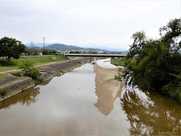 石川サイクル橋から上流を望む