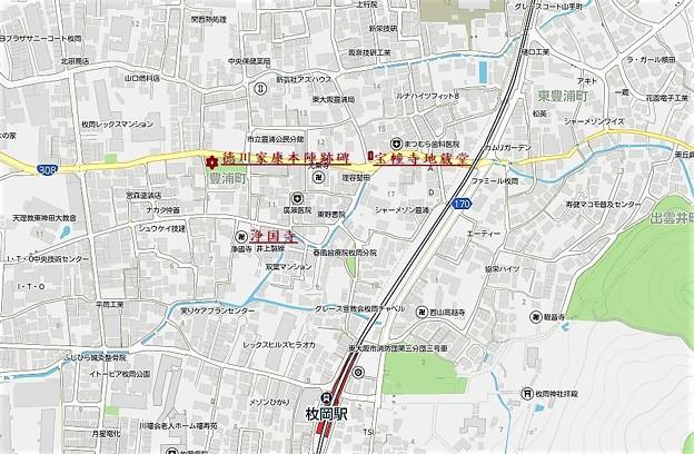 宝幢寺地蔵堂、浄国寺地図