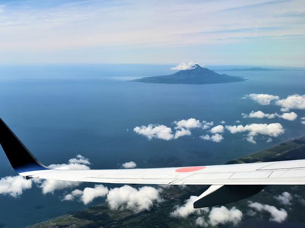 利尻島 ANA機上より撮影