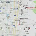 Photos: 心合寺山古墳、玉祖神社、旧春日神社本殿地図