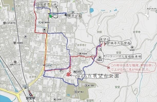 8月21日銀輪散歩地図