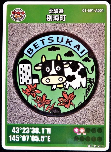 01北海道別海町のマンホールカード (1)