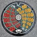 010-0000秋田市のマンホール(竿灯祭りの図柄)