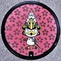 036-0000弘前市のマンホール(たか丸くんと桜の図柄)