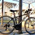 新相棒のクロスバイク(CB)・花園ラグビー場にて