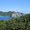 安脚場(あんきゃば)戦跡公園から奄美大島皆津崎を望む