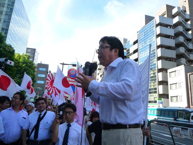 反天連への抗議活動