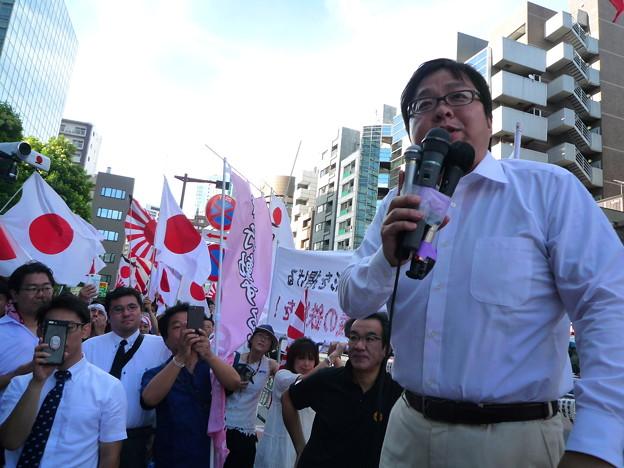 反天連への抗議