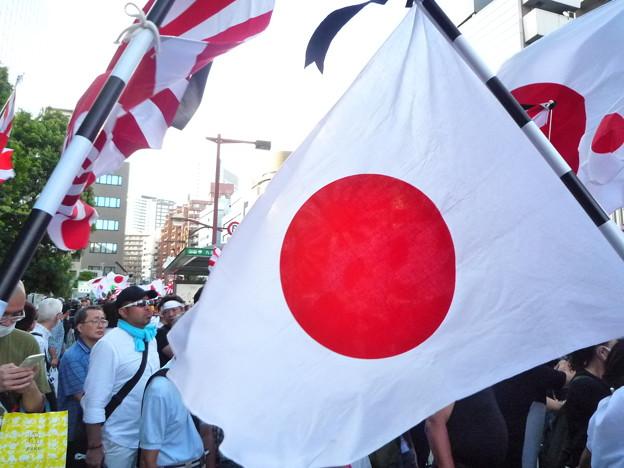 Photos: 日の丸と日本国民
