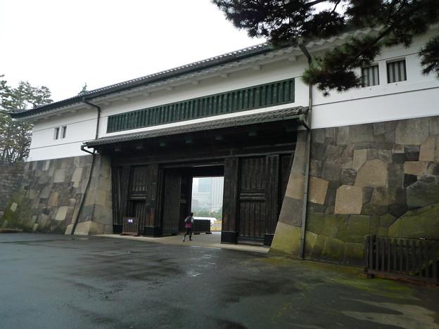 桜田門(石の模様が組木細工のように美しいです。