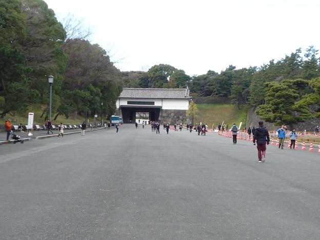 一般参賀後の桜田門