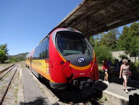 ディーニュに到着した列車
