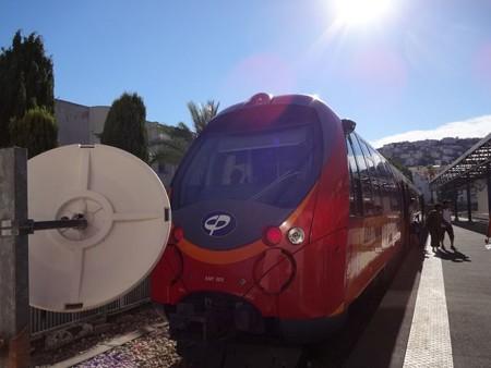 ディーニュからの列車(ニース駅)