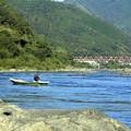 清流の川漁師