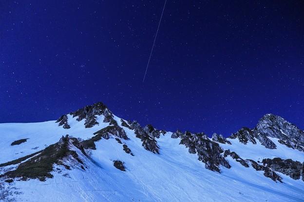 写真: 流れ星飛行機