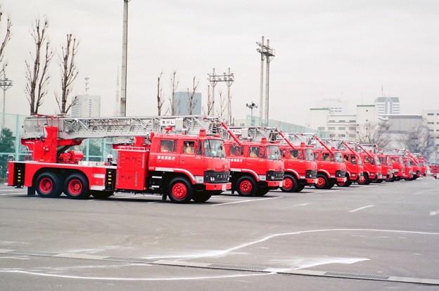 956 東京消防庁 東京消防出初式 一斉放水用はしご車