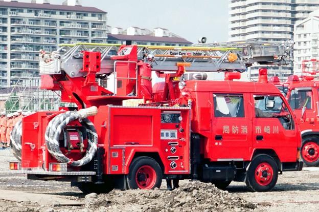 518 川崎市消防局 川崎1小型ポンプ車(10mはしご付)