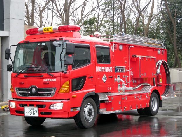 137 川崎市消防局 犬蔵2水槽付ポンプ車
