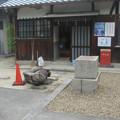 狛犬と社務所