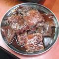 写真: 肉と肝