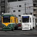 【鹿児島市電】9500形 9503号車と9505号車(ゼロカーボンかごしま号)