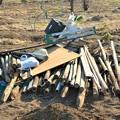 菜園・道具小屋撤去材料の一部