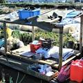 Photos: 道具小屋・床と屋根完了..