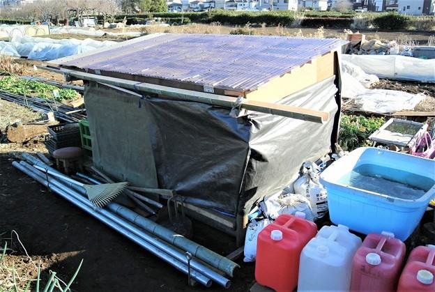 Photos: とりあえず道具小屋の完成