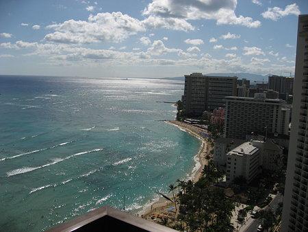 ワイキキビーチタワー。ラナイからの景色