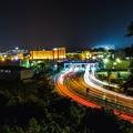 写真: 津山インターの夜景