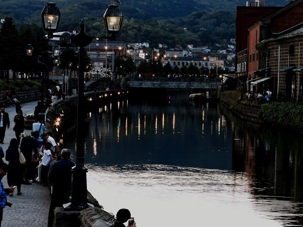 夕暮れの運河