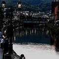 写真: 夕暮れの運河