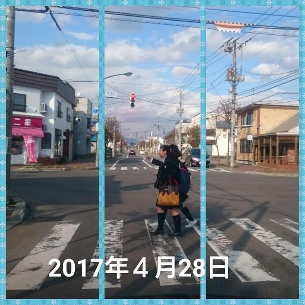 2017年4月28日の北海道岩見沢市の街の切り取り