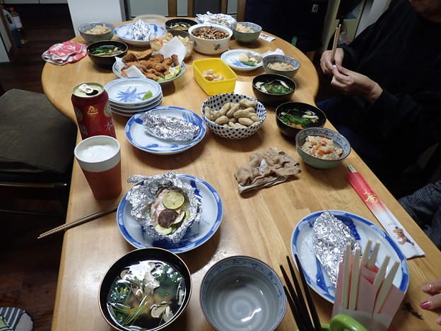 写真: 10月15日夕食(家)