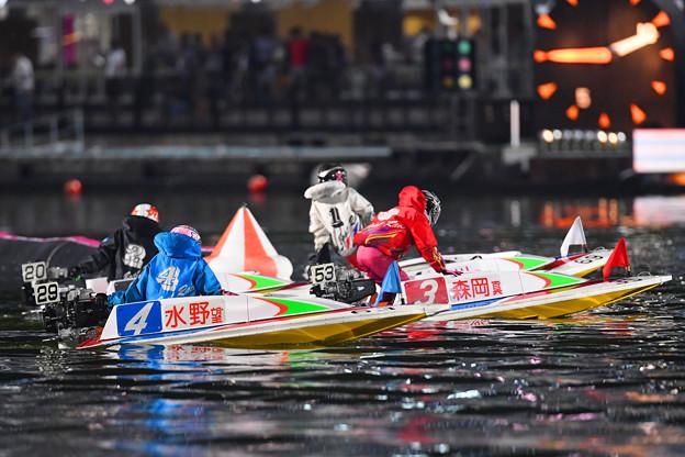 水野望美選手10R4号艇5着 (2)