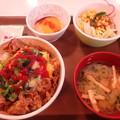 オム牛丼ランチセット(すき家)